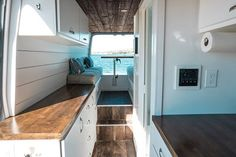 10 Changes We Made to Our Sprinter Van Conversion — Sara & Alex James - 40 Hours of Freedom Van Conversion Floor Plans, Van Conversion Solar, Van Conversion For Family, Van Conversion Bathroom, Sprinter Van Conversion, Camper Conversion, Diy Camper, Camper Van, Camper Life