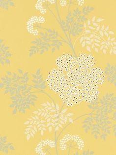 Sanderson Cow Parsley Wallpaper, DOPWCO105, Chinese Yellow £45.00