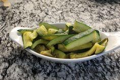 Nourish: Braised zucchini in white wine and garlic
