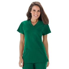 Women's Jockey Scrubs Wrinkle-Free Top, Green