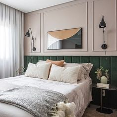 Bedroom Bed Design, Home Room Design, Home Bedroom, Bedroom Decor, Cream Bedroom Walls, Bedroom Lighting, Bedroom Designs, Bedroom Ideas, Contemporary Bedroom