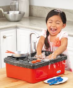 Look at this Little Tikes Splish Splash Sink & Stove Toy Set on #zulily today!
