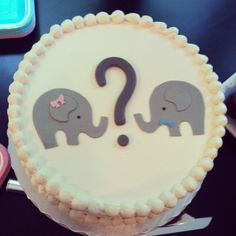 Our gender reveal cake, thanks Sugarland! -- We could do it with Alpacas! Fill it with the color of the gender!