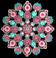 Beautiful mandala created with dots