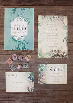 Rustic wedding invites from Invitations By Dawn