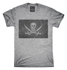 Retro Vintage Calico Jack Pirate Flag T-Shirt, Hoodie, Tank Top