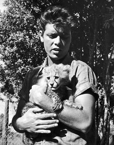 Cliff Richard looking tough and his baby furry friend pretending to look fierce ≧°⌣°≦,