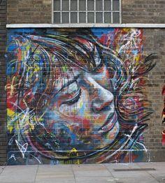 David Walker is a London-based graffiti artist. His speciality is to create stunning portraits using spray paint. 3d Street Art, Urban Street Art, Street Art Graffiti, Urban Art, David Walker, Inspirational Artwork, Abstract Face Art, Wonder Art, Graffiti Artwork