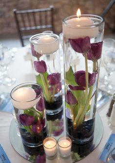 tischdeko lila ausgefallene idee für tischdeko in lila
