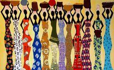 Femmes tissus africains