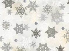 BY-1-2-YD-WINTER-CELEBRATION-RED-ROOSTER-FABRIC-CHRISTMAS-SNOWFLAKES-SNOW-GRAY