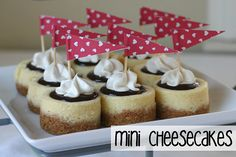 Be still my heart...  How I love these little darlings! The deliciousness of cheesecake in a mini/bite sized portion...  Smaller is just cu...