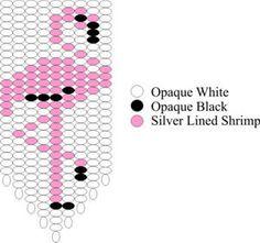 Flamingo Fringe Bead Graph