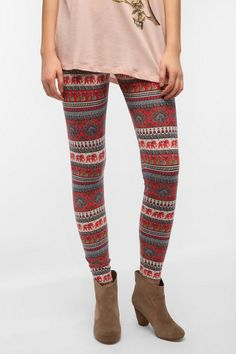 ($29 Vintage Peacock High Rise Legging  #UrbanOutfitters kinda price but really cute