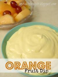 Orange Fruit Dip on MyRecipeMagic.com #dip #fruit #orange
