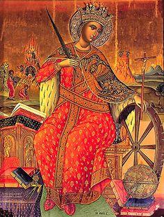 St. Katherine of Alexandria, my patron saint.