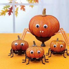 Easy Pumpkin Crafts | Creepy Spiders | AllYou.com