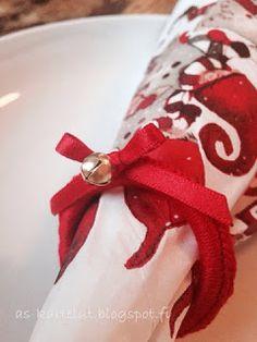 AS-kartelut: Jouluiset servettirenkaat Napkin Rings, Decor, Decoration, Decorating, Napkin Holders, Deco