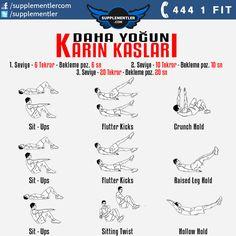 Daha sıkı karın kasları için antrenman programınıza bu hareketleri ekleyebilirsiniz. #fitness #health #supplement #fitness #bodybuilding #body #muscle #kas #vücutgelistirme #training #weightlifting #spor #antrenman #crossfit #spor #workout #workouts #wor