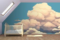 Big Clouds Wall Mural