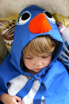 """Sweet bluebird costume.  Cape-style one piece is great for toddlers and preschoolers who tend to demolish """"fancy"""" costumes."""