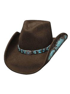 Bullhide Hats Western Fashion Felts Platinum Collection Natural Beauty 0578CH Womens Chocolate, $76.00