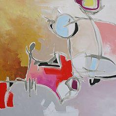 "Dreamscape by Linda Monfort Acrylic ~ 24"" x 24"""