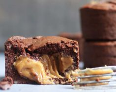 Healthy caramel explosion brownies by Coconut & Bliss