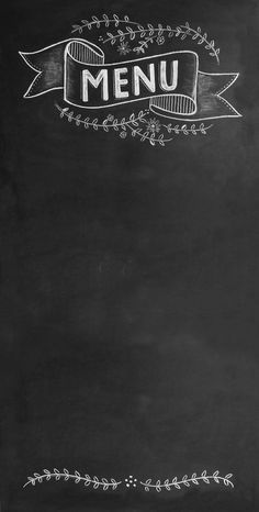 Wedding Chalkboard Sign Large Chic Menu by RockyMountainDecals