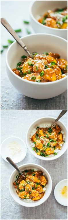30-MINUTE SESAME MANGO CHICKEN TERIYAKI