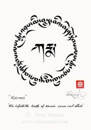 Karma-The infalible truth of karmic cuase and effect. Uchen and Tsugmakhyug