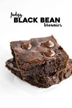 Fudgy Black Bean Brownies   You can't taste the beans and they help to make these brownies extra moist, healthy and delicious!