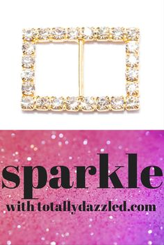 This sweet gold and rhinestone slider buckle is only $0.75 at totallydazzled.com! Come and see our wide selection of rhinestone products to make your special day sparkle!