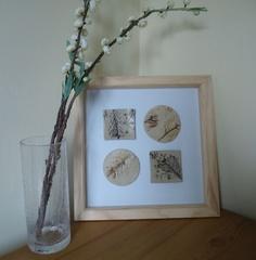 Framed ceramics by Charlotte Hupfield Ceramics