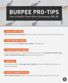 Everyone loves to hate burpees, but maybe that's just because we don't know them well enough. That's why we've rounded up everything you need to know to feel more comfortable with (and motivated to do) the ultimate total-body exercise, including some tips and tricks to get through those brutal high-rep sets.