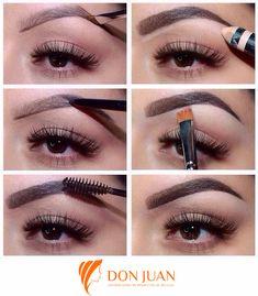 Las cejas enfatizan tus hermosos ojos. Descubre cómo darle un acabado natural.  #TipsDonJuan