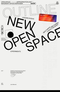 open space on behance Type Posters, Graphic Design Posters, Graphic Design Typography, Graphic Design Illustration, Graphic Design Inspiration, Poster Designs, Layout Inspiration, Daily Inspiration, Outline
