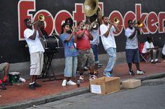 New Orleans sidewalk jazz
