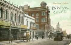 View of Maples Corner, Chapel Street Prahran, Source: State Library of Victoria Melbourne Suburbs, Victoria Australia, Historic Homes, Historical Photos, Mists, Street View, Edwardian Era, Victorian, Landscape