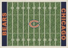 NFL Team Home Field Chicago Bears Novelty Rug