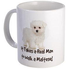 It takes a real man to walk a Maltese, and our t-shirt tells the world! So cute, and fun for a gift to your dog-walking man. Fun for Christmas, birthday or to hang out in.