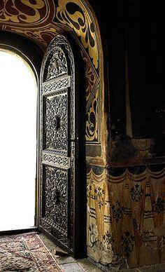 Open & beautiful door, Romania