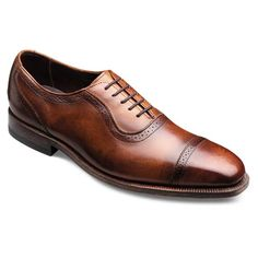RUTLEDGE - Plain-toe Lace-up Mens Dress Shoes by Allen Edmonds in Walnut Burnished Calf for $475.00
