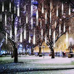 LEDs Meteorschauer Regen Lichter,  Beleuchtung, Lichterketten, Außen & Innen Drop Lights, String Lights, Xmas Tree, Christmas Tree Decorations, Shower Lighting, Meteor Shower, Rain Drops, Solar Lights, Strip Lighting