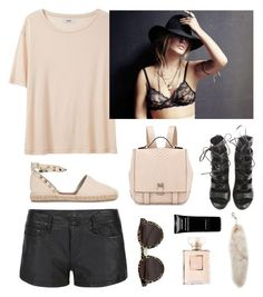 """""""Nude"""" by anna-lena-als ❤ liked on Polyvore featuring AllSaints, Proenza Schouler, Illesteva, Acne Studios, Givenchy, Chanel, Balmain and Valentino"""