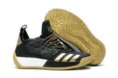 reputable site 53d8e 19a41 Mens Adidas Harden Vol 2 Black Gold White Basketball Sneakers For Sale  Zapatos Dama, Zapatillas