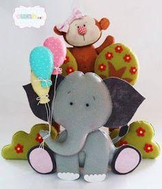 Eu Amo Artesanato: Elefante de feltro