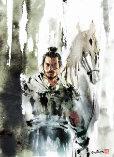 Artist Jungshan (Jungshan) (Rola Chang) Wuxia Magazine cover Project to Wuxia story Magazine publish in China Because this is horse year, and I have to draw a horse with samurai per month.