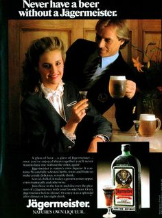 1983 JAGERMEISTER Preppy Couple Drinking ORIGINAL VINTAGE PRINT PAPER AD | eBay