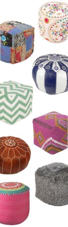 Cushions & Poufs
